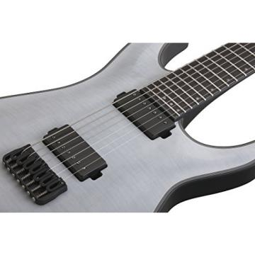 Schecter KM-7 Keith Merrow Artist Model Solid-Body Electric Guitar, Trans White Satin