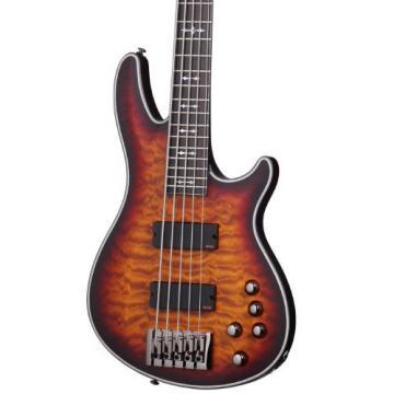 Schecter Hellraiser Extreme-5 5-String Bass Guitar, 3-Tone Sunburst Satin