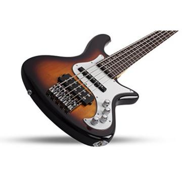 Schecter 2525 5-String Bass Guitar, 3-Tone Sunburst