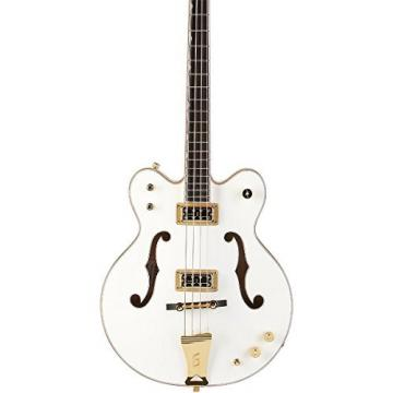 Gretsch G6136LSB White Falcon Electric Bass Guitar - White