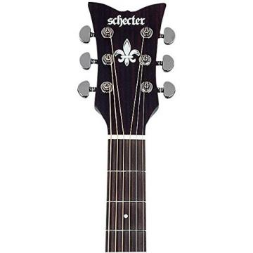 Schecter 3713 Acoustic-Electric Guitar, Satin See-Thru Black