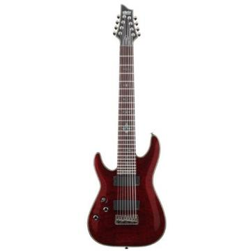 Schecter Damien Elite-8 Left Handed Eight String Electric Guitar - Crimson Red