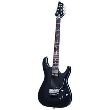 Schecter Damien Platinum 6 Floyd Rose-Sustainiac Guitar, Satin Black, 1189 PACK