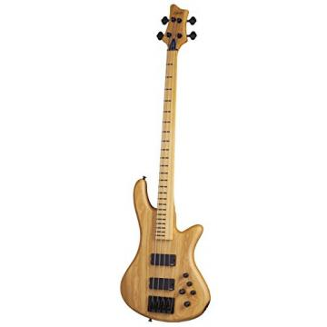 Schecter Stiletto Session-4 Fretless 4-String Bass Guitar, ANS