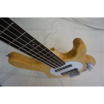 Bass Guitar, 5 String, natural wood body, new, active pickups