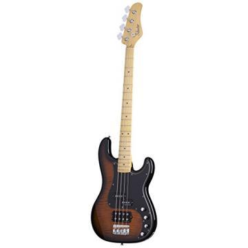 Schecter DIAMOND-P PLUS DVS 4-String Bass Guitar, Dark Vintage Sunburst