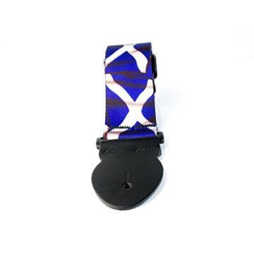 LeatherGraft Scotland Scottish Saltaire Printed Flag Country National Design Guitar Strap