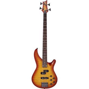 Mitchell MB300 Modern Rock Bass with Active EQ Honey Burst