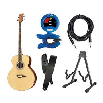 Dean Guitars EAB Acoustic-Electric Bass With Tuner, Stand, Strap And Cable