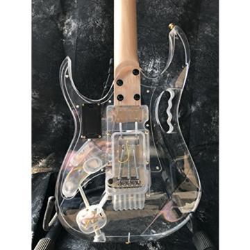 Starshine IB style populer crystal electric guitar multi color led light frets gold hardware