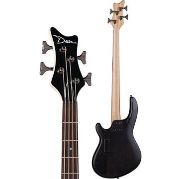 Dean E4 FM TBKS Edge 4-String Bass Guitar, Trans Black Satin
