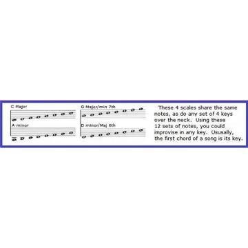 BASS SLIDE RULE CHART - 5 POSITIONS