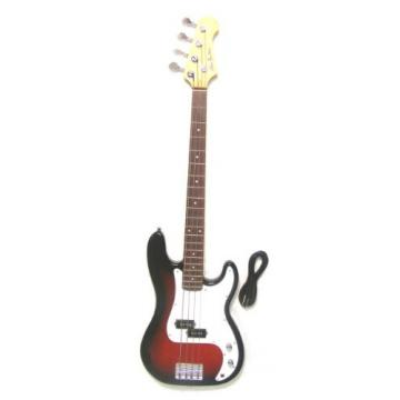 Electric Bass Red Burst