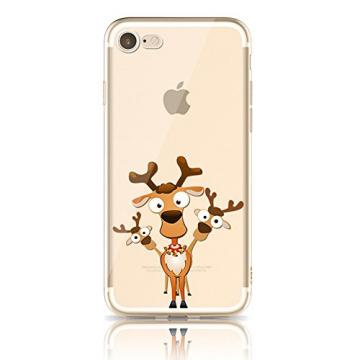 iPhone 5 Soft TPU Cases, Bonice iPhone 5/5S Premium Ultra Thin Slim Exact Fit Silicone Rubber Clear Transparent Back Cover Creative Design Scratch-Resistant Non-slip Protective Skin - Rudolph