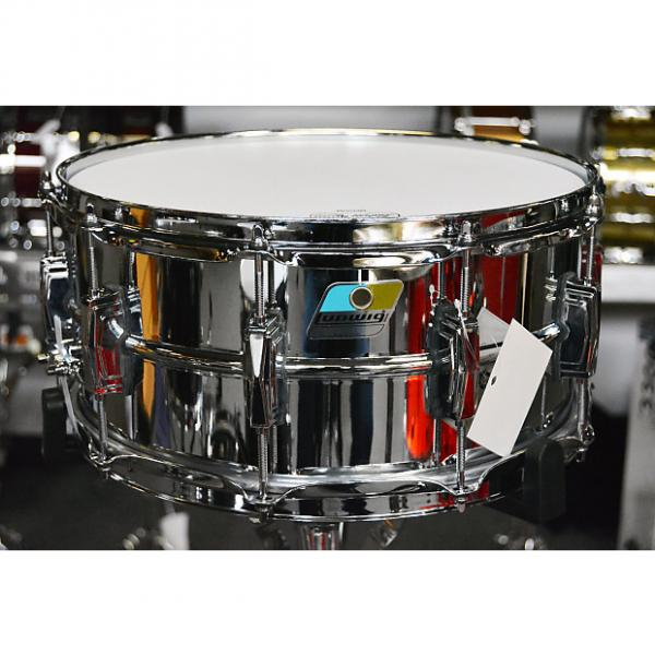 "Custom Ludwig Supraphonic LM402 6.5""x14"" Snare Drum - Blue and Olive badge"