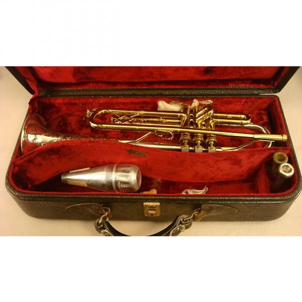 Custom King Silver Tone Bb Trumpet 1940 Brass and Silver Plate