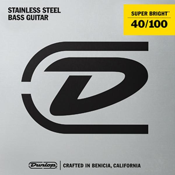 Custom Dunlop Super Bright Steel Wound Bass String Set .40-.100 3 Sets @ $29.00