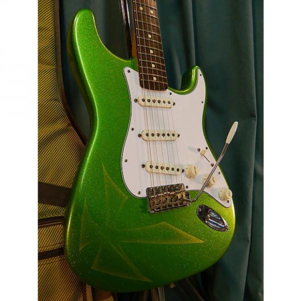 Custom Fender California Series Stratocaster 1997 Green Sparkle