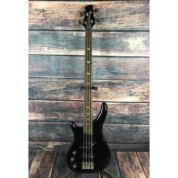 Custom Tradition B100 Left handed 4 string bass Gloss Black with padded gig bag
