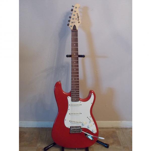Custom Lotus Strat Style Guitar Red
