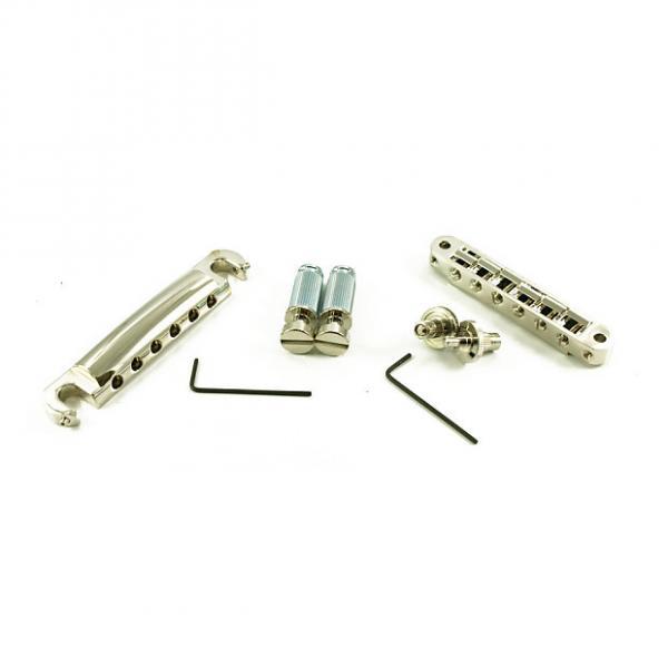 Custom Tone Pros LPNS02/NKL TP6 T1ZS Bridge + Tailpiece Set US 4mm Nickel