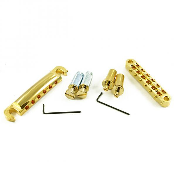 Custom Tone Pros LPGM02/GLD T3BT T1Z Bridge + Tailpiece Set Metric Gold T3BT-G T1Z-G