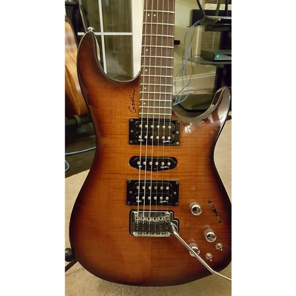 Custom Godin Freeway SA Guitar 2010 Lightburst Leaftop