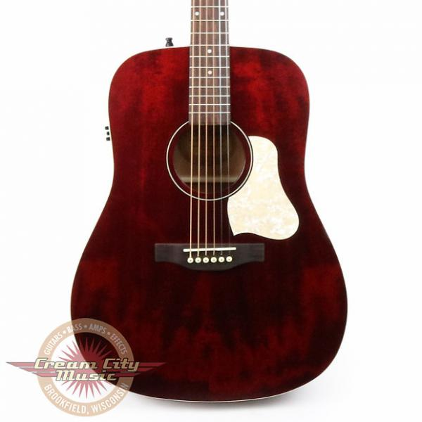 Custom Brand New Art & Lutherie Americana Dreadnought Acoustic Electric in Tennessee Red