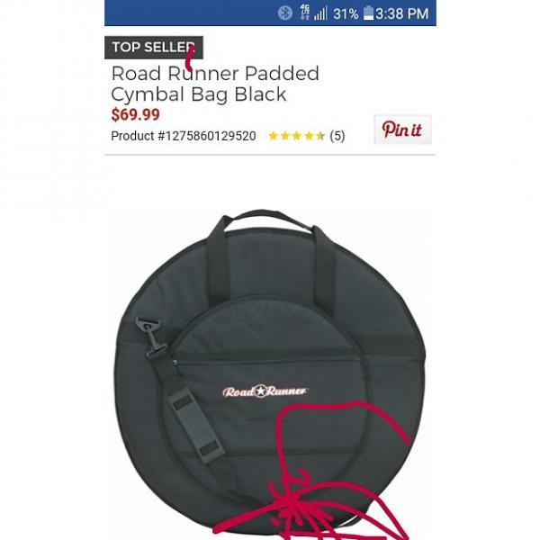 Custom Roadrunner Cymbal Bag 22 Inch. 2017 Black