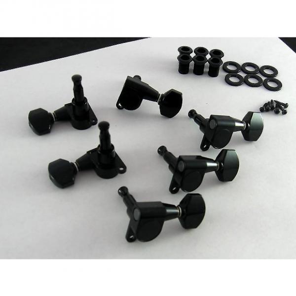 Custom Gotoh SG360 Mini Tuners 6IL 6 In Line Black TK 7760-003