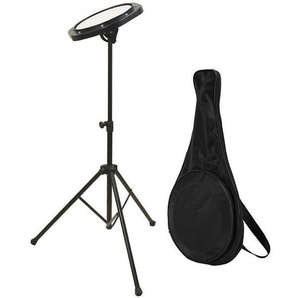 Custom On Stage DFP5500 Drum Practice Pad w Stand and Bag