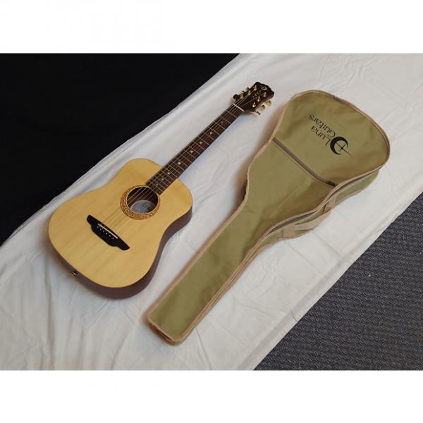 Custom LUNA Safari Supreme acoustic Travel 3/4 size GUITAR - SOLID SPRUCE TOP w/GIG BAG