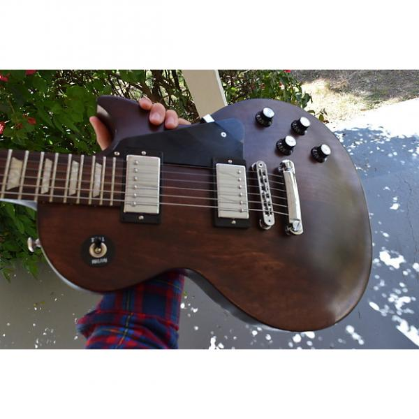 Custom Gibson Les Paul Studio Faded T 2016 Worn Brown Satin, with Gibson gig bag & signed checklist, clean