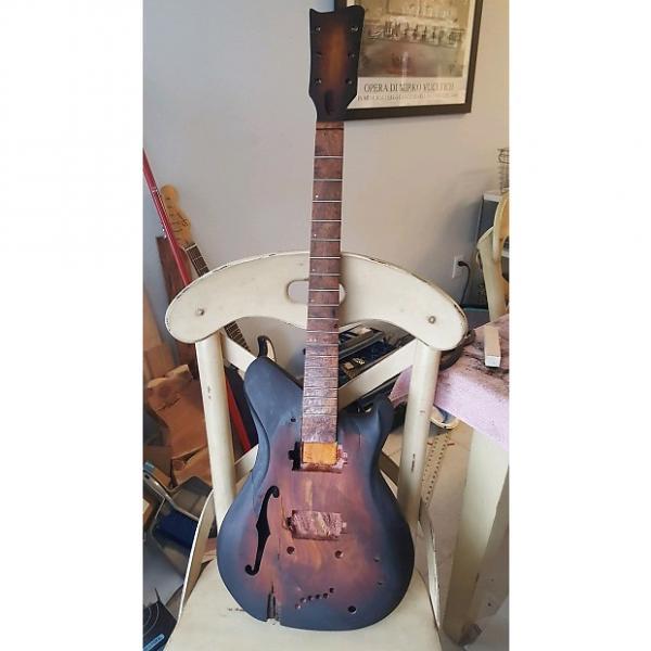 Custom O. K. Meek Guitars   Semi Hollow  2017 Tobbaco Burst