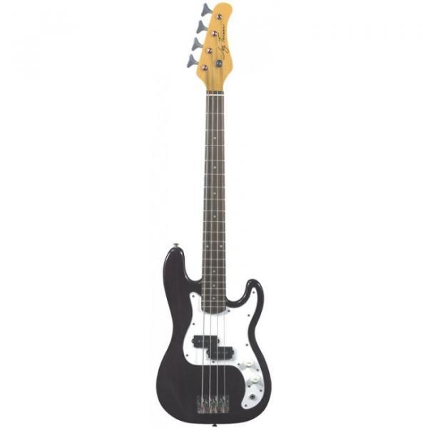 Jay Turser JTB-40 Series 3/4 Electric Bass Guitar Trans Black