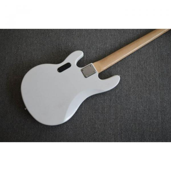 Custom White Music Man Sting Ray 5 Bass 9 V Battery Passive Pickups