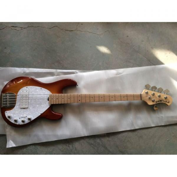Custom Sunburst Music Man Ernie Ball Bass 9 V Battery Music Man S.U.B. Ray5 Passive Pickups