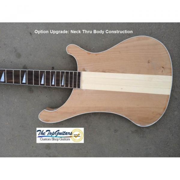 Custom Shop Natural Glo Rickenbacker 4003 Checkerboard Binding Bass