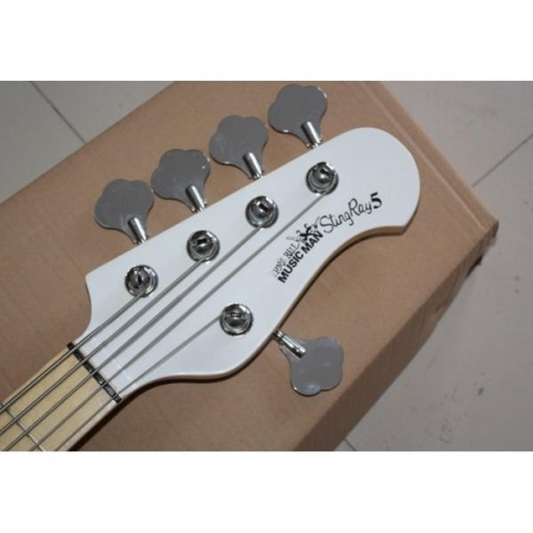 Custom Shop MusicMan White 5 StringsMusic Man S.U.B. Ray5 Electric Bass