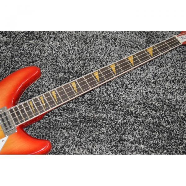 Custom Shop 4005 Rickenbacker Fireglo 22 Frets Semi Hollow Bass Shark Tooth Inlay