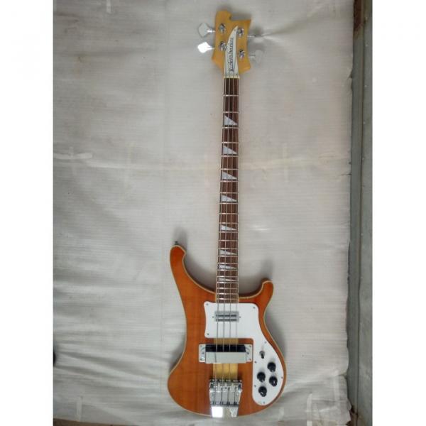 Custom 4003 Neck Thru Body Construction 4 String Bass Naturalglo