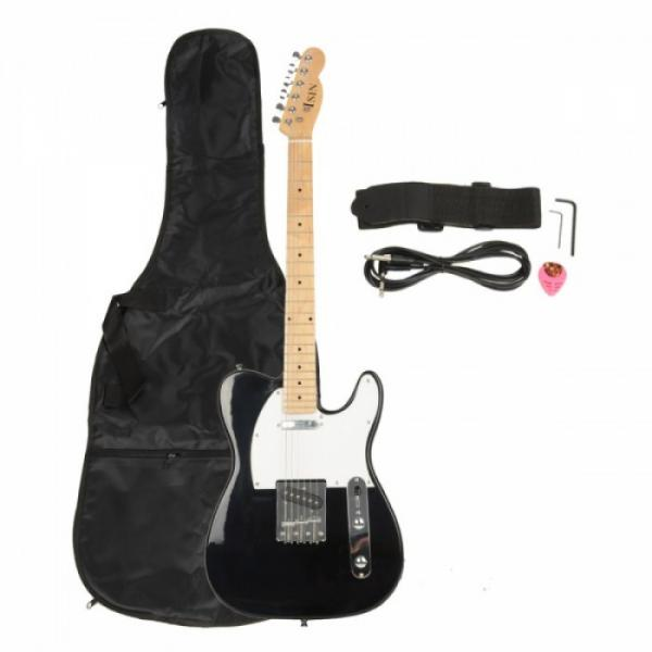 Professional Electric Guitar Black with Amplifier Bag Strap Tool Pick