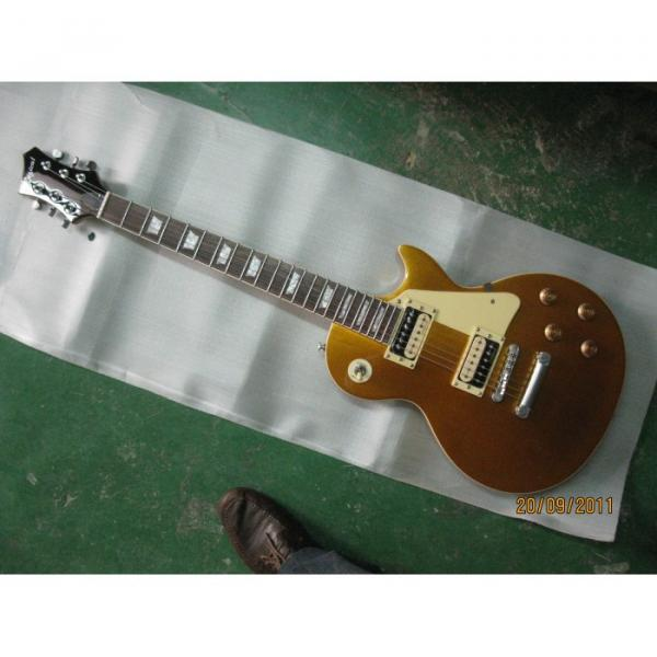 Logical Solid Body Gold Top Electric Guitar