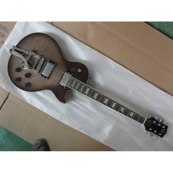 Logical Brown Wave  Top LP Electric Guitar