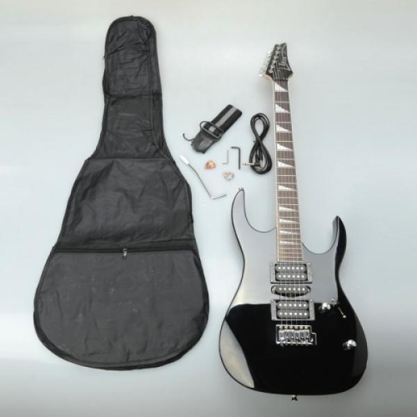 IRIN Professional Electric Guitar Black with Bag Strap Pick Tremolo Bar Cable