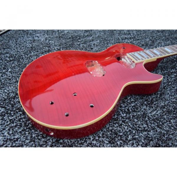 Custom Shop Unfinished Red Wine Tiger Maple Top Electric Guitar