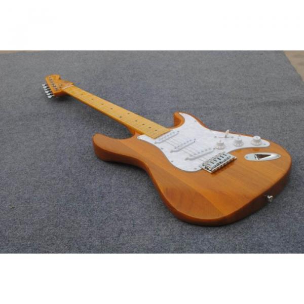 Custom Shop Stratocaster Natural Wood Grain Electric Guitar