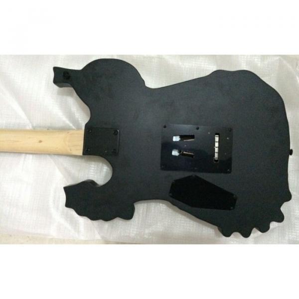 Custom Shop Skull Dark Emo Carved Electric Guitar