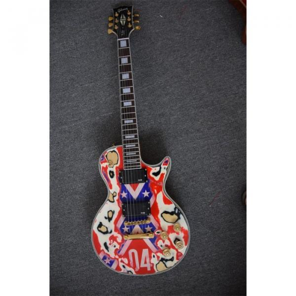 Custom Shop Relic Gore Rebel Confederate Flag Electric  Guitar