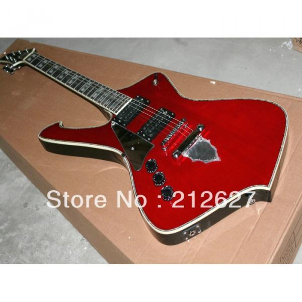 Custom Shop Left Iceman Ibanez Red Electric Guitar
